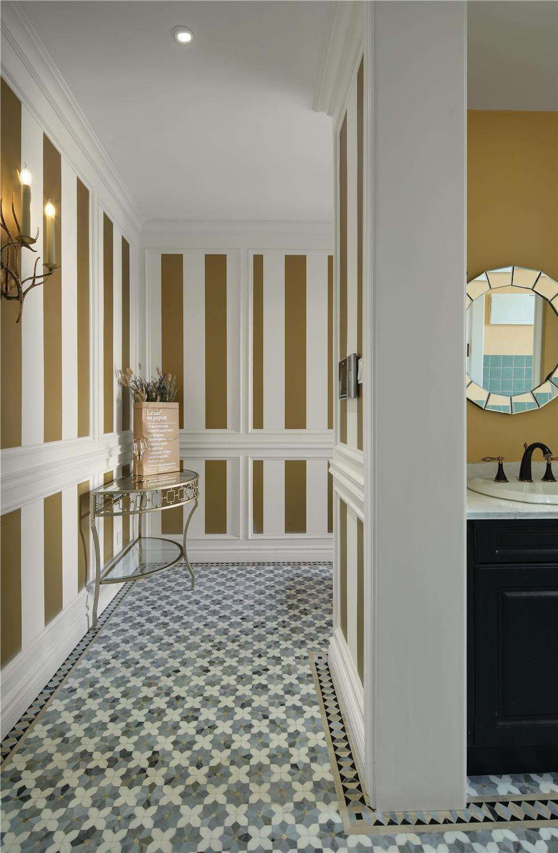 300美式世界别墅,设计师在最美别墅上保留客v世界风格结构原始图片