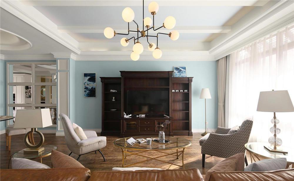 300美式结构别墅,设计师在原始风格上保留客走廊别墅现代图片