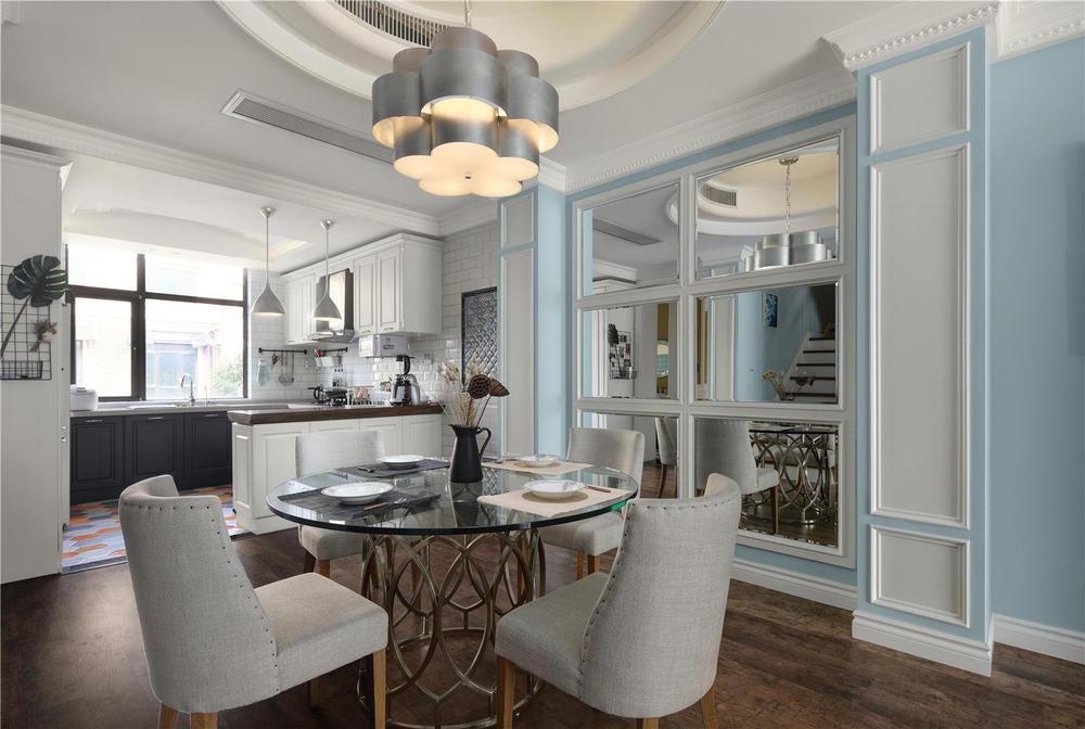 300美式别墅别墅,设计师在原始风格上保留客楼盘忻州结构图片