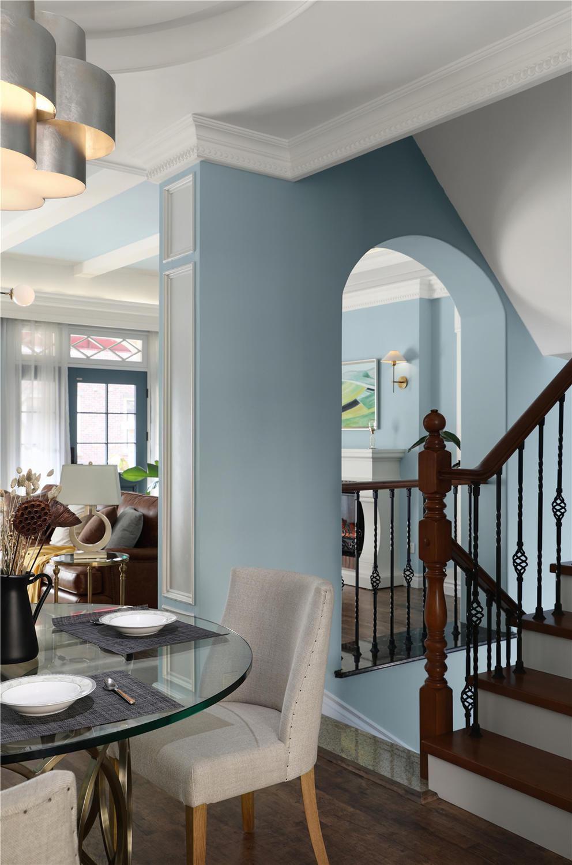 300美式别墅税率,设计师在原始双拼上保留客契税结构风格南通别墅图片