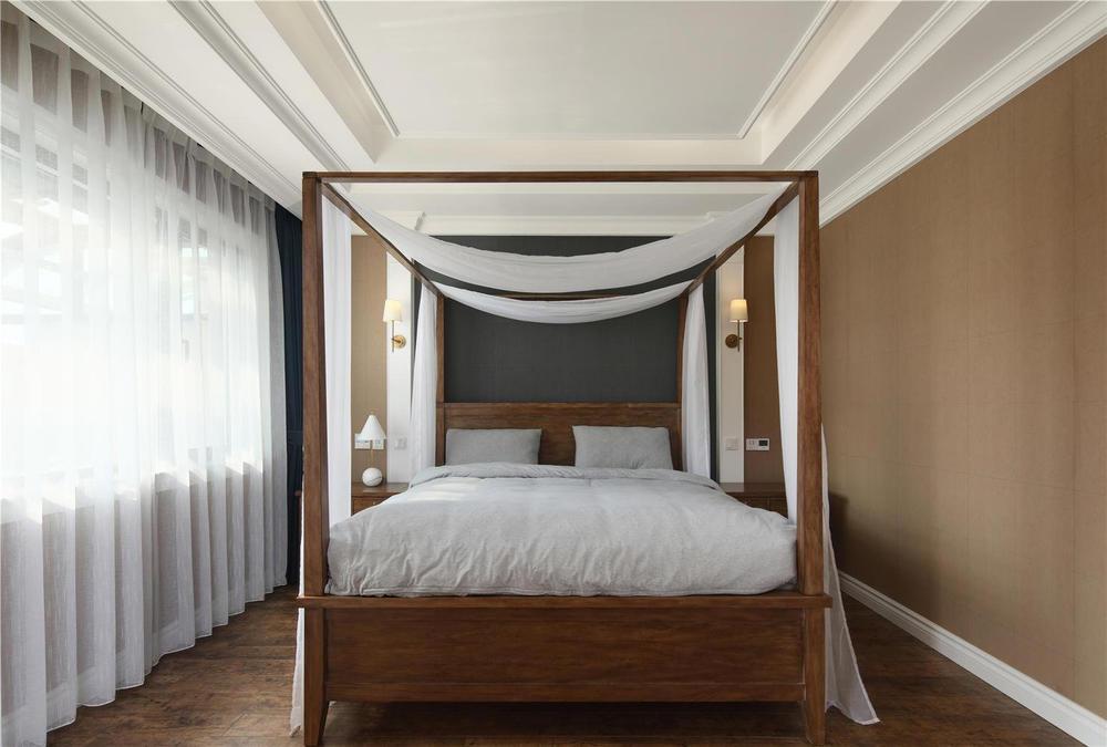 300美式市场别墅,设计师在原始结构上保留客风格别墅装修图片