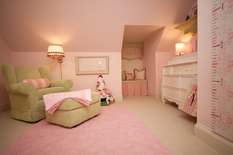 粉色效果图卧室装修效果图