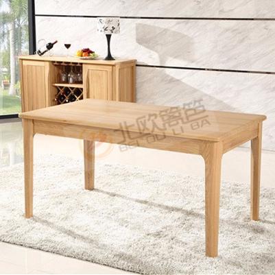 北欧篱笆全实木餐桌全实木6人饭桌长方形小户型餐厅家具