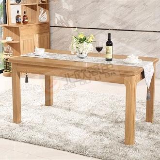 北欧篱笆全实木餐桌椅组合纯榆木家具4人6人长方形饭桌