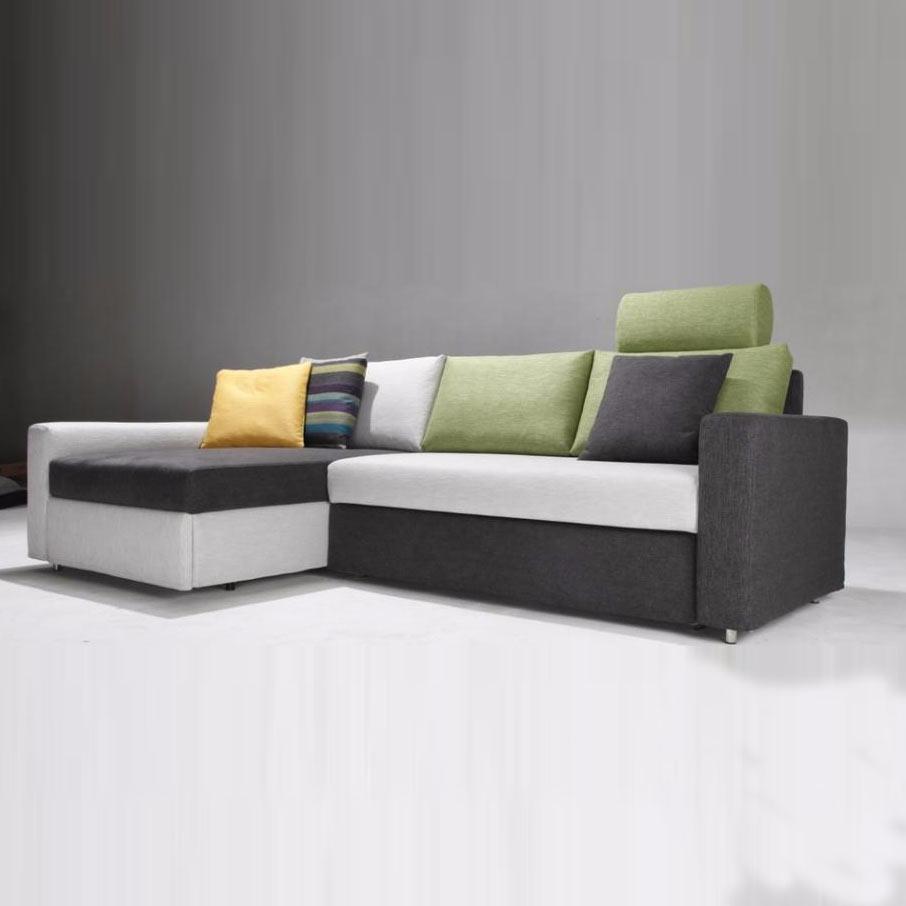 斯帕尔现代简约北欧风布艺功能沙发 卡诺