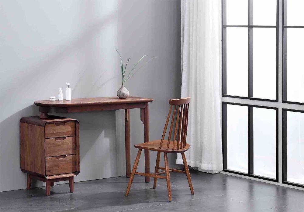 奥芬达家具全实木黑胡桃系列妆台
