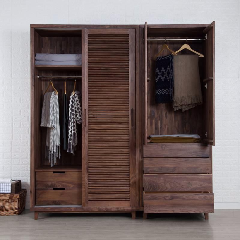 进口黑胡桃木衣柜