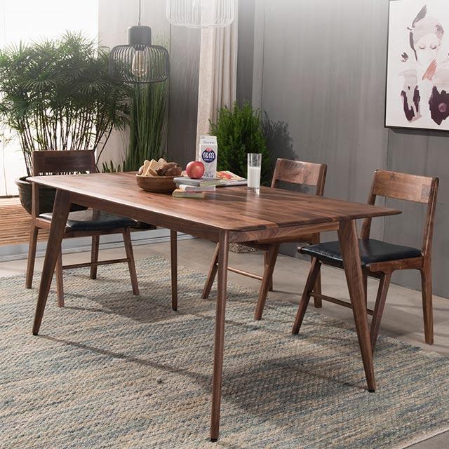优粤北欧环保北美黑胡桃木餐桌4人餐厅家具现代简约日式