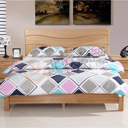 北欧篱笆全实木床床头柜三件套组合卧室组合套装