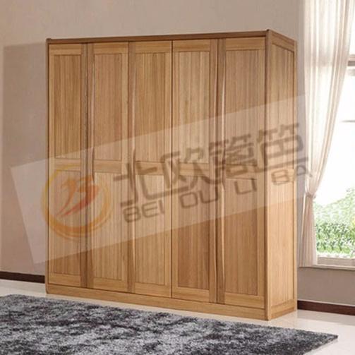 北欧篱笆全实木大衣柜衣橱整体衣柜卧室家具大柜