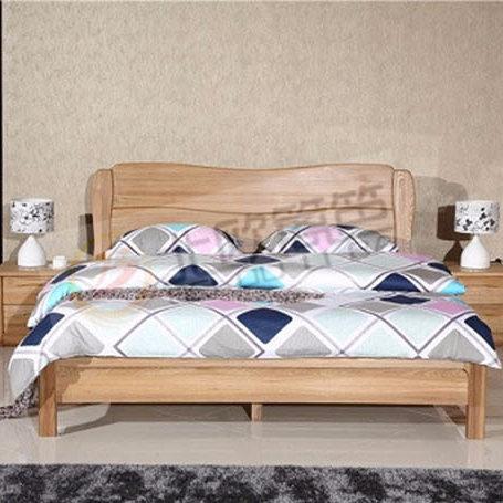 北欧篱笆全实木卧室三件套床床头柜1.8米双人床现代简约