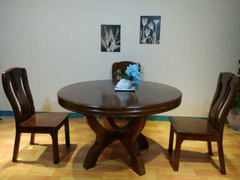 全实木圆桌  1.3米