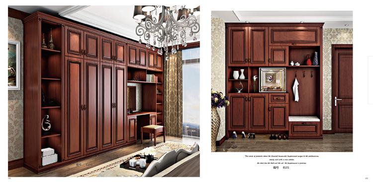 全屋定制实木美式橱柜衣柜书柜图片