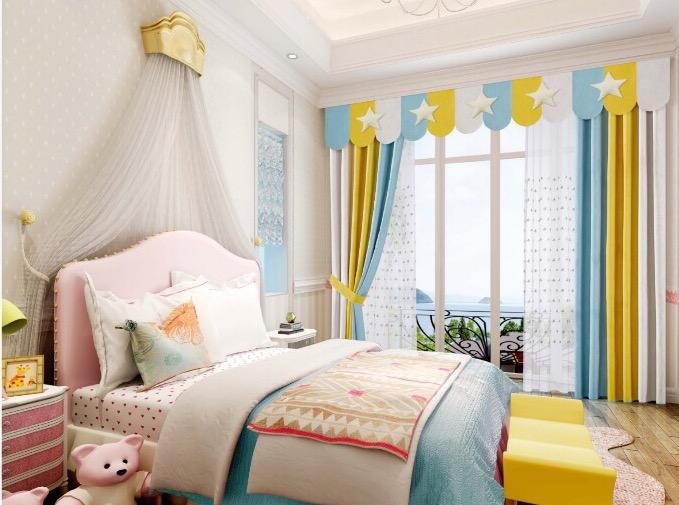 重庆窗帘北欧风格简美欧式卧室客厅美式遮光飘窗定制上门安装