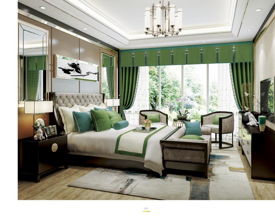 重庆窗帘北欧风格简美欧式卧室客厅美式遮光飘窗定制上门安装图片