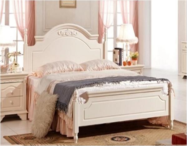 韩式系列白色实木大床