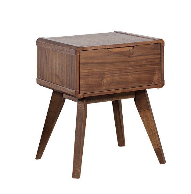 马来西亚原装进口实木贴皮床头柜b01-1