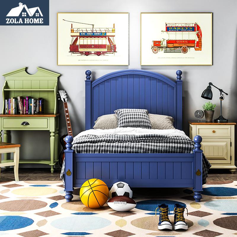 左拉家居科罗拉多美式实木双人床 儿童床