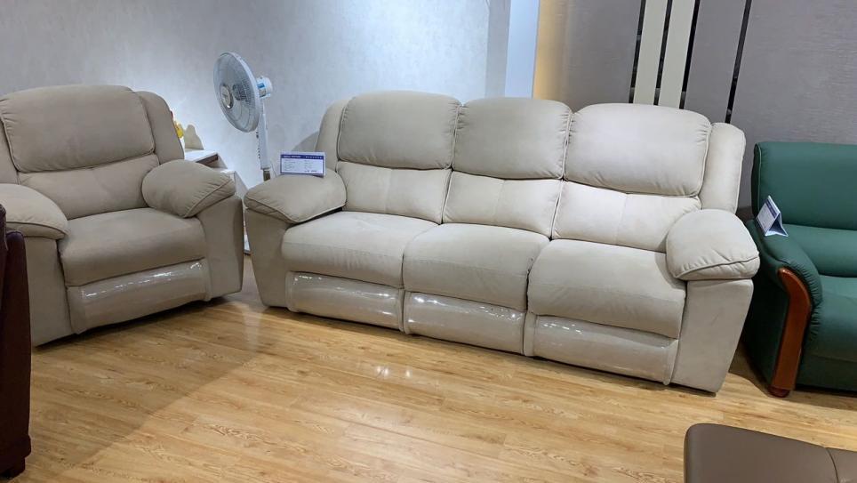 休閑舒適三人位科技布功能沙發雙電機 3302#