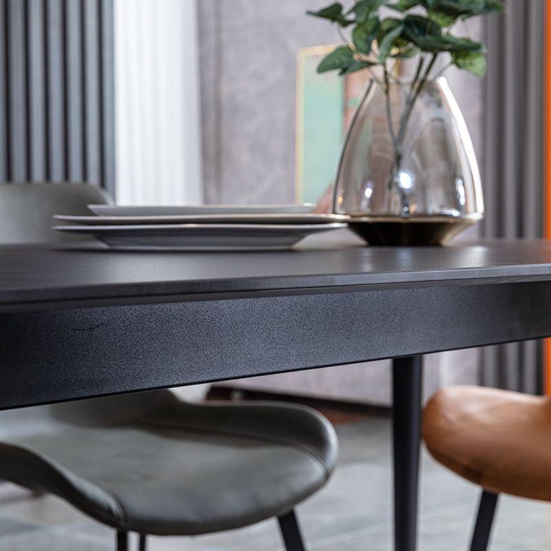 【五一家装节】齐家优选现代简约岩板餐桌 买餐桌送餐椅4把!
