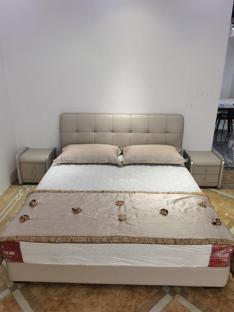 【五一家装节】齐家优选皮软床*接触面头层牛皮*赠送床头柜两个