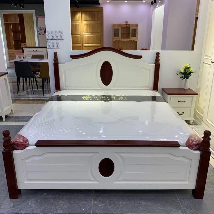 【家装狂欢节】齐家优选地中海风格实木床1800×2000mm
