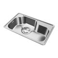 韩国白鸟水槽 304不锈钢单槽VS7501(带沥水篮)
