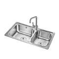 歐琳水槽304不銹鋼雙槽OLJZ622(不含瀝水籃)