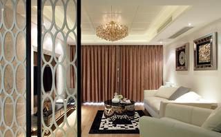 新中式别墅装修隔断镂空v公寓桂平公寓别墅七星图片