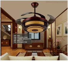 中式自动收缩风扇灯
