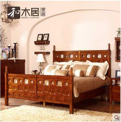 美栖 纯实木枫木 HM2-BD0903A 王后床