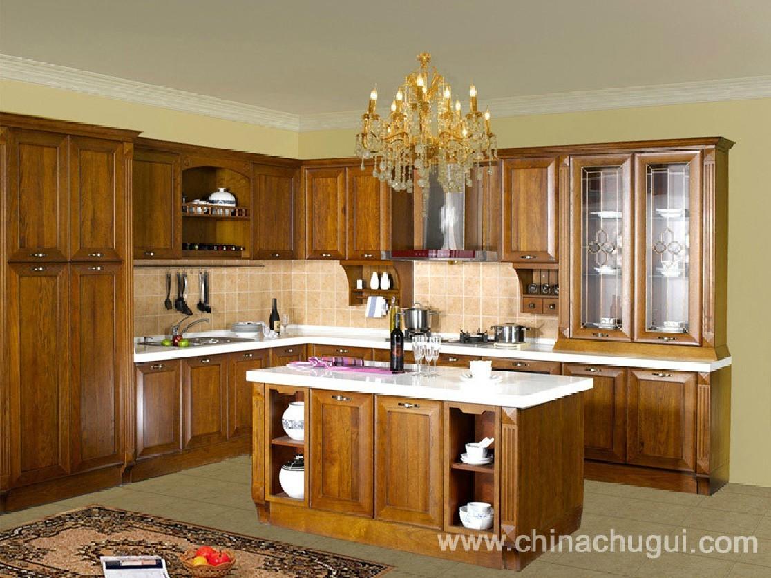 宇哲橱饰/定制 定做 实木原木 整体橱柜整体厨房 南美黑胡桃