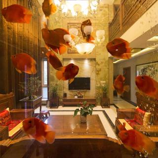 中式别墅装修设计 红鳞碧翠