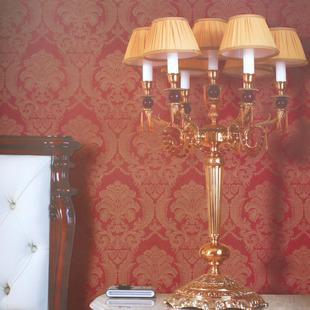 旗航壁纸 欧式风格红色0407西方复古图案 客餐厅背景墙纸