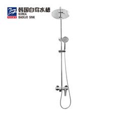 韩国白鸟 淋浴花洒套装 全铜龙头淋浴器浴室淋雨沐浴喷头PA1505