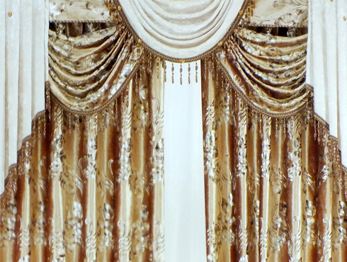 豪华欧式窗帘k1103-3烫金绒布