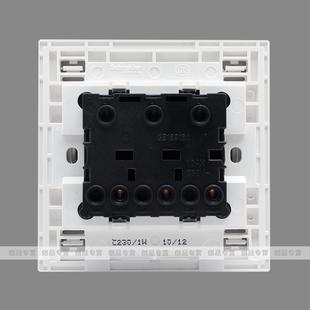 施耐德c86系三联双控带荧光开关/三开双控