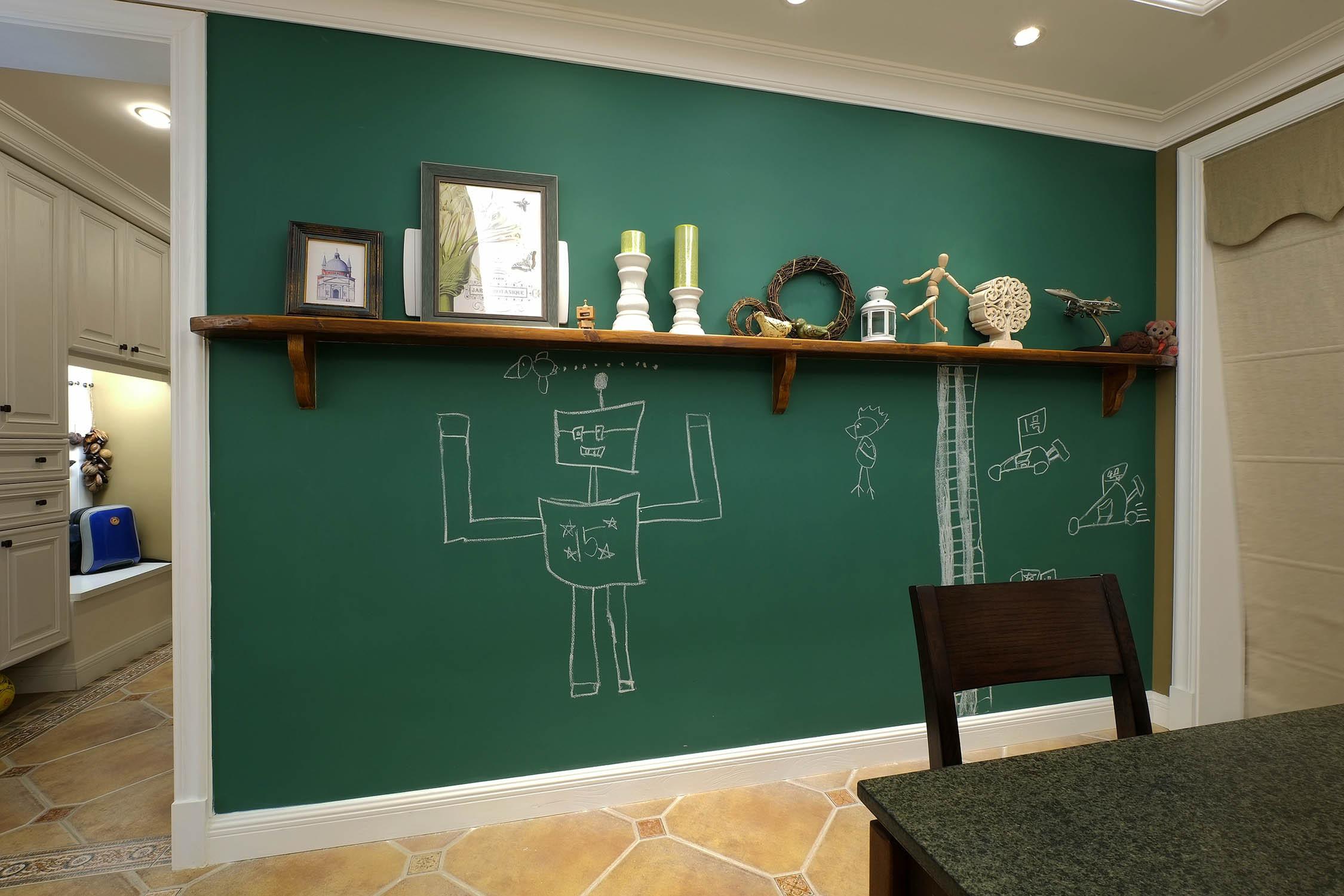 室內黑板墻設計實景圖