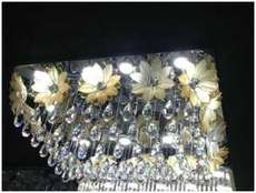 太阳花方形水晶灯