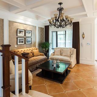 100平美式二居装修设计图