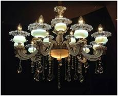 锌合金10+5水晶吊灯