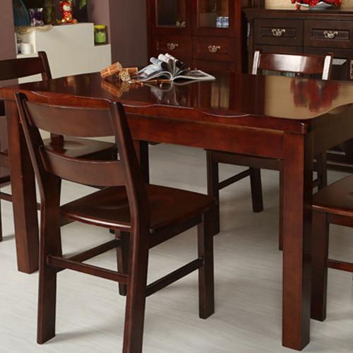 居美印尚 餐厅套件 橡胶木一桌四椅 818