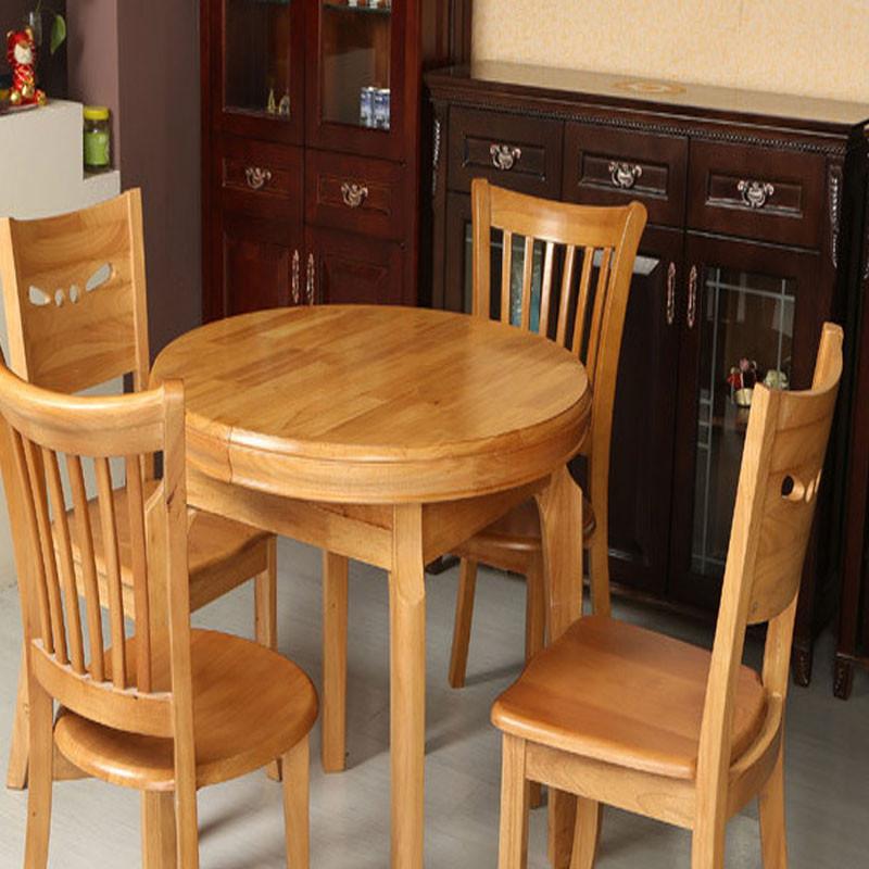 居美橡胶木现代简约 一桌四椅829 529 510