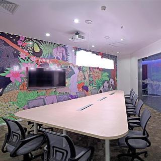 时尚简约办公室装修设计图
