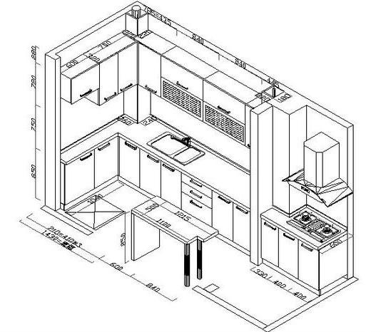 大信整体橱柜厨房抗菌板防火板+实木颗粒板+石英石