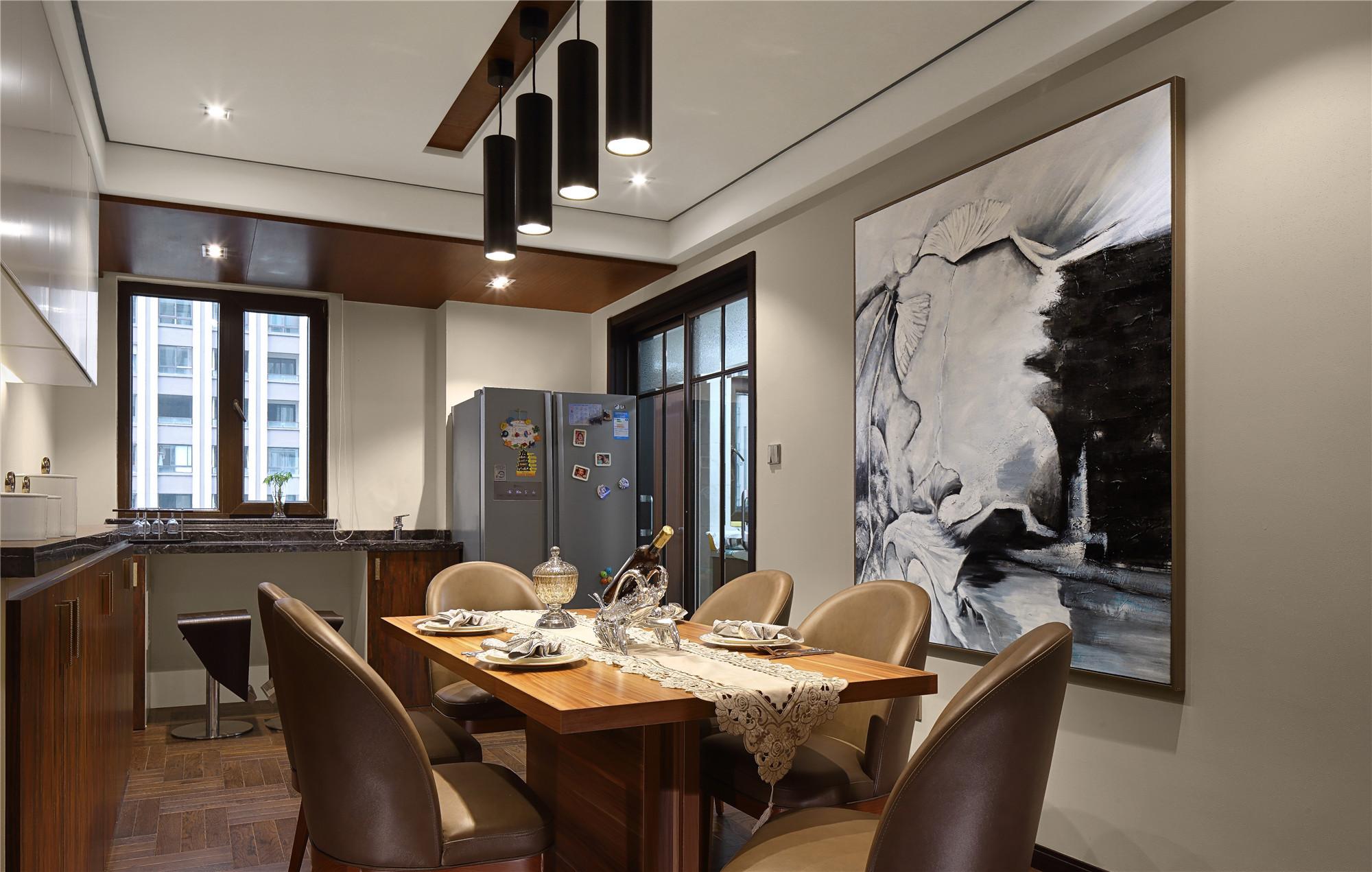 80平现代欧式装修餐厅设计图_齐家网装修效果图