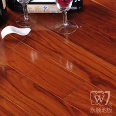 永顺地板 实木油漆地板 柚木900*90-98*18