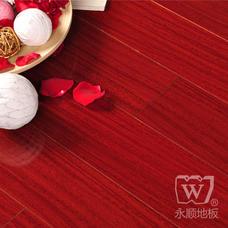 永顺地板 实木地板 圆盘豆910*120-125*18红色