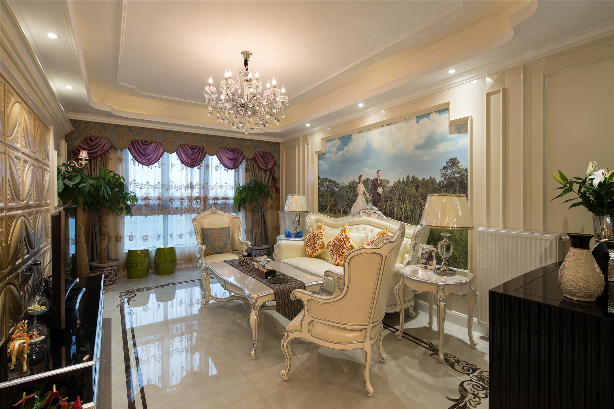 装修效果图 家居美图 欧式风格客厅三层连体别墅简洁2013欧式客厅装潢