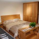 居美印尚现代 榆木 实木床 双人床 1.5米大床